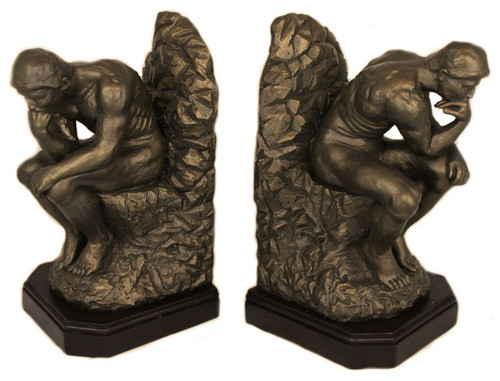 The Thinker Bookends - Auguste Rodin, Rodin Museum Paris, 1881 - Pair, EXCLUSIVE - Photo Museum Store Company