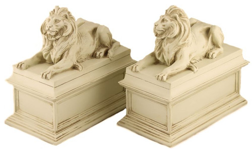 Museum Store Photo - New York Library Lions Bookends - Patience & Fortitude - Edward Clark Potter, NY Public Library