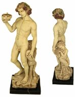 Bacchus (Dionysus) & Pan on Marble Base - Michelangelo 1496-1497 - EXCLUSIVE - Photo Museum Store Company