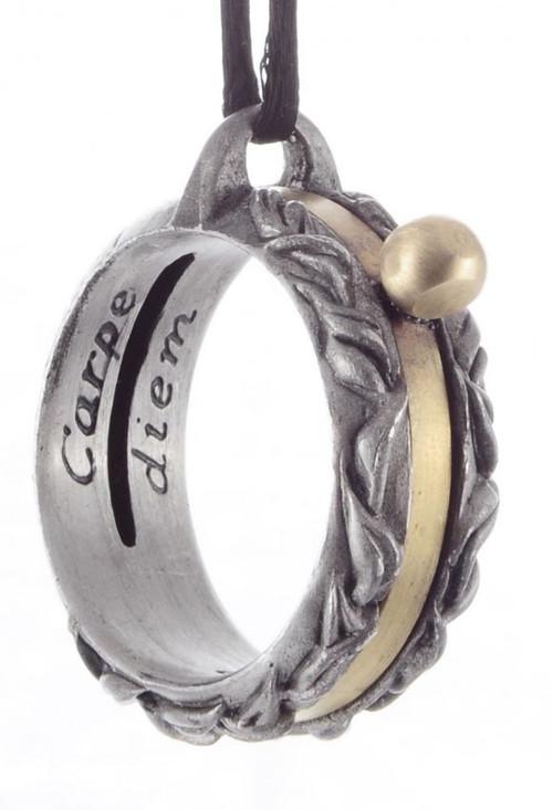 Aquitaine Laurel Leaf Influenced Sundial Ring Pendant - 12th Century  - Photo Museum Store Company