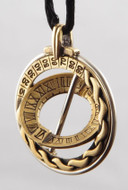 Explorer Celtic Design Sundial Ring Pendant - Handcrafted Bronze - Photo Museum Store Company