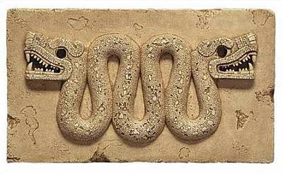 Aztec Double-Headed Serpent - Aztec/Mixtec, 15th-16th century AD, Mexico - Photo Museum Store Company