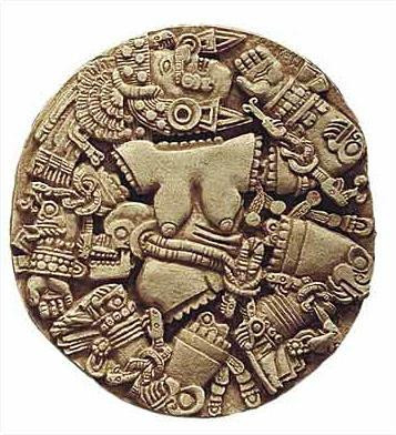 Aztec Moon Goddess Coyolxauhqui - Temple Mayor Museum, Mexico City, 1400 A.D. - Photo Museum Store Company