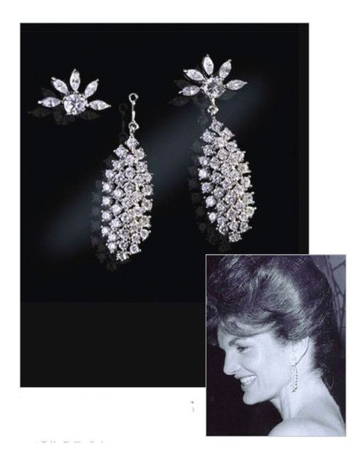 Jacqueline Jackie Kennedy Collection - Waterfall Earrings - Photo Museum Store Company