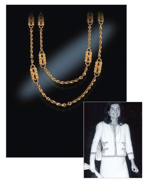 Jacqueline Jackie Kennedy Collection - Paperclip Necklace - Photo Museum Store Company