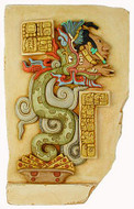 Large Maya vision serpent - color detailed - Yaxchilan, Mexico. 755 A.D. - Photo Museum Store Company
