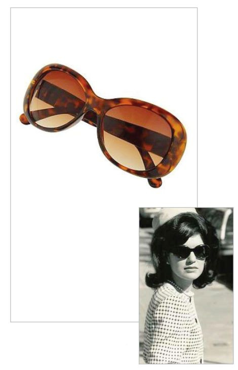 Jacqueline Jackie Kennedy Collection - Classic Round Sunglasses - Photo Museum Store Company