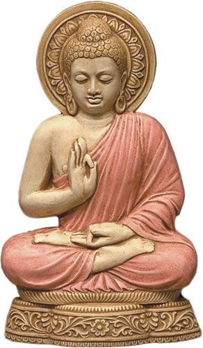 Buddha Wall Relief / Plaque - Hand Colored Detail - Photo Museum Store Company