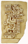 Large Maya vision serpent - Yaxchilan, Mexico. 755 A.D. - Photo Museum Store Company