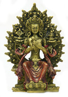 Small Buddha Maitreya, Gold and Red - Photo Museum Store Company