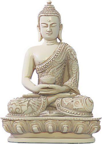 Nepali Buddha in Meditation Pose Statue, Stone - Photo Museum Store Company