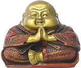Praying Happy Buddha Hotai Small Statue - Photo Museum Store Company