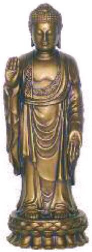 Standing Buddha in Pose of Dispelling Fear, Bronze Finish - Photo Museum Store Company