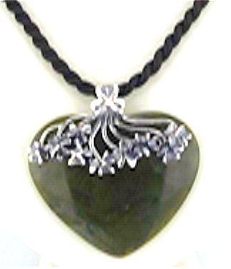 Connemara Marble Heart Pendant - Photo Museum Store Company