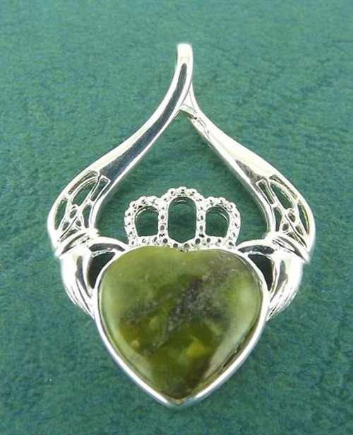 Connemara Marble Claddagh Pendant - Photo Museum Store Company