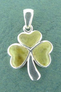 Connemara Marble Inlaid Small Shamrock Pendant - Photo Museum Store Company
