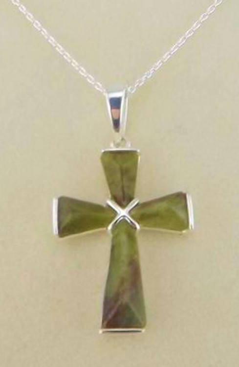 Connemara Marble Small Cross On Chain - Photo Museum Store Company