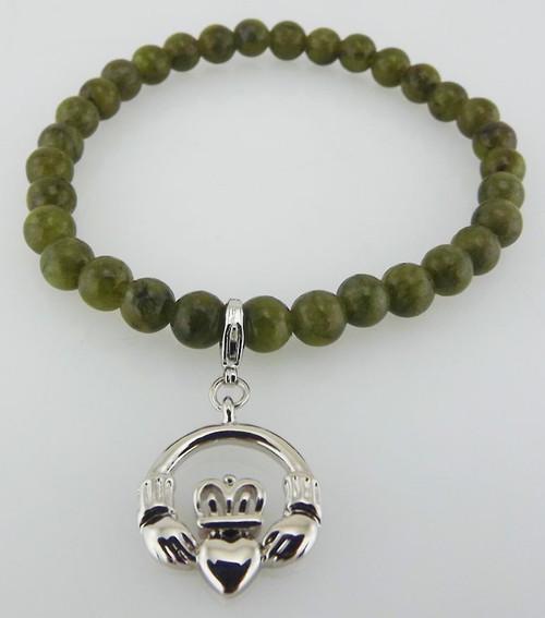 Connemara Marble Claddagh Charm Bracelet - Photo Museum Store Company