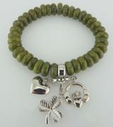 Connemara Marble 3 Charm Bracelet - Photo Museum Store Company