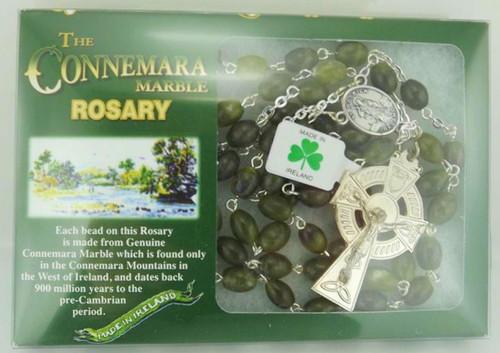 Connemara Marble Oval Bead Rosary - Photo Museum Store Company