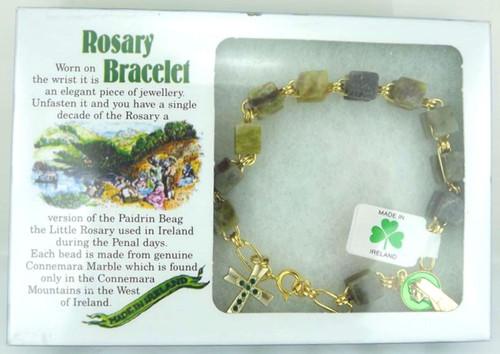 Connemara Marble Rosary Bracelet - Photo Museum Store Company
