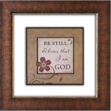 Be Still Glass Matted Framed Plaque - Photo Museum Store Company