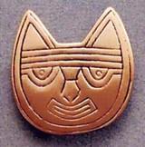 Pre-Columbian Cat Brooch - Peru, Paracas Culture 250 B.C to 125A.D. The Lowe Art Museum - Photo Museum Store Company
