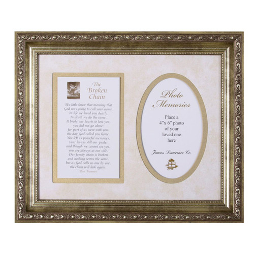 Broken Chain Framed Art with inspirational prayers and words from Scripture - Photo Museum Store Company