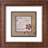 Delight Yourself Glass Matted Framed Plaque - Photo Museum Store Company