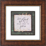 Draw Near to God Glass Matted Framed Plaque - Photo Museum Store Company