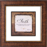 Faith Is Glass Matted Framed Plaque - Photo Museum Store Company