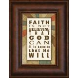 Faith Is Not - Mini Framed Print / Wall Art - Photo Museum Store Company