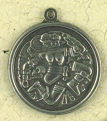 Coyolxauhqui, The Aztec Moon Goddess Pendant on Cord - Temple Mayor Museum - Photo Museum Store Company
