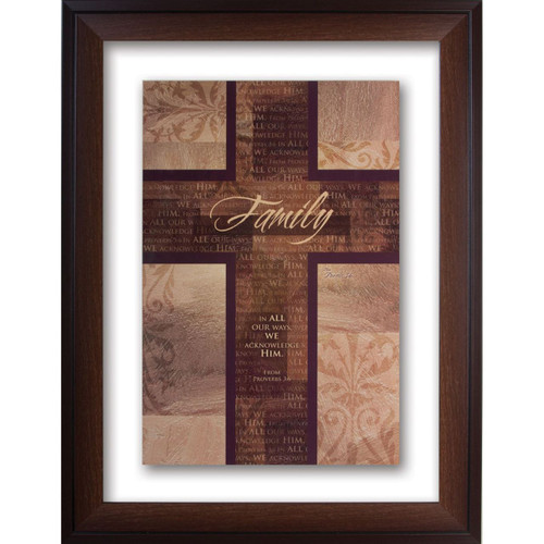 Family Double Glass Matted - Framed Print / Wall Art - Photo Museum Store Company