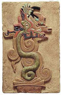 Maya Vision Serpent - Hand Painted - Yaxchilan, Mexico,  755AD - Photo Museum Store Company