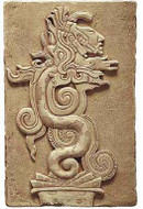 Maya Vision Serpent :  Yaxchilan, Mexico. 755 A.D. - Photo Museum Store Company