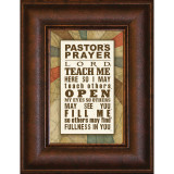 Pastor's Prayer - Mini Framed Print / Wall Art - Photo Museum Store Company
