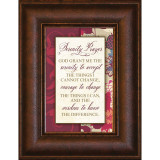 Serenity Prayer - Mini Framed Print / Wall Art - Photo Museum Store Company