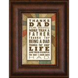 Thanks Dad - Mini Framed Print / Wall Art - Photo Museum Store Company