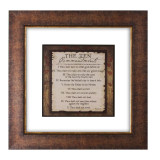 Ten Commandments Double Glass Matted - Framed Print / Wall Art - Photo Museum Store Company