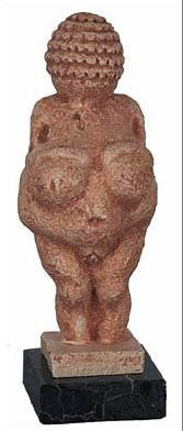Venus of Willendorf, Museum of Natural History, Vienna, 30,000BC : 8H on Marble Base - Photo Museum Store Company