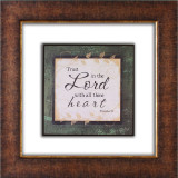Trust In The Lord Glass Matted Framed Plaque - Photo Museum Store Company