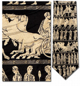 Greek Pan Procession Necktie - Museum Store Company Photo