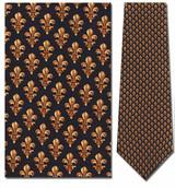 Fleur-de-leis Repeat Necktie - Museum Store Company Photo