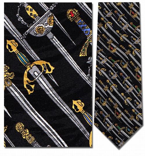 Medieval Swords Necktie - Museum Store Company Photo