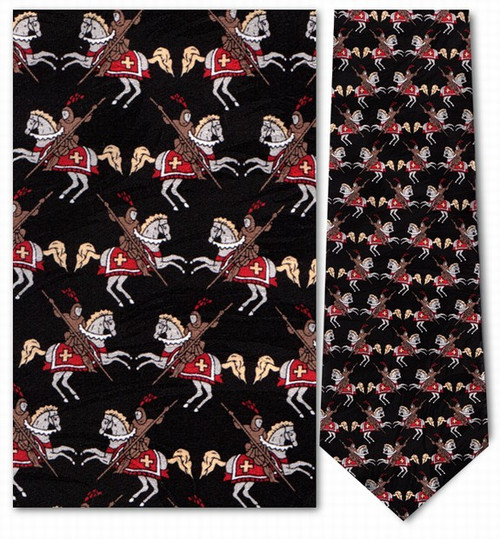 Charging Knights Necktie - Museum Store Company Photo