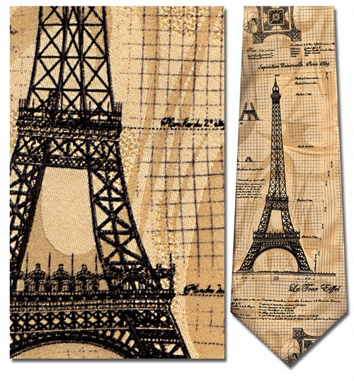 Construction of the Eiffel Tower Necktie - Museum Store Company Photo