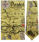 Pirates History and Treasure Map Necktie - Museum Store Company Photo