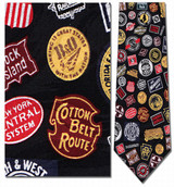 Railroad - Classic Logos Necktie - Museum Store Company Photo