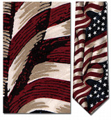 Large Waving American Flag Necktie - Museum Store Company Photo